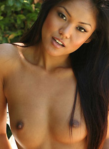 Sexy Asian Teen Strips Outside - Picture 4