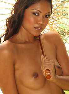 Asian Teen Naked Outside Looking For Shade - Picture 4