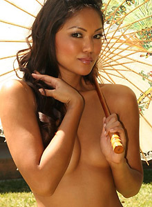 Asian Teen Naked Outside Looking For Shade - Picture 7